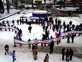 В Крыму отметили День Соборности Украины и День АРК