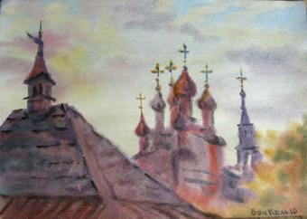 Путешествие художника по русским городам