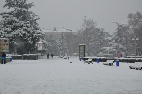 В Ялте снег. Оставайтесь дома!