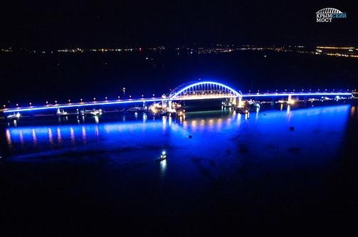 Мы знаем, как будет выглядеть Крымский мост ночью