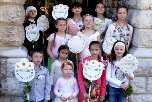 Белый цветок милосердия