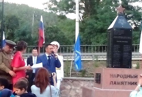 Народный памятник — народной стройкой