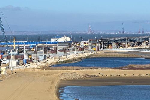 На первом участке строительства Крымского моста завершились свайные работы