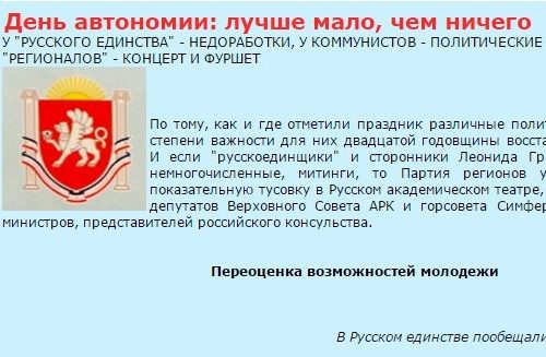 Крым. 18 января