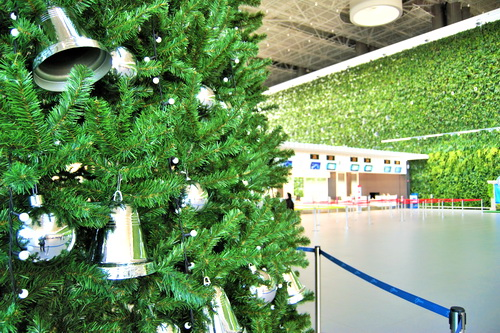 В аэропорту Симферополь установили самую высокую в Крыму новогоднюю елку 0 (0)