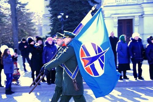«Космический полк» Крыма получил свое боевое знамя