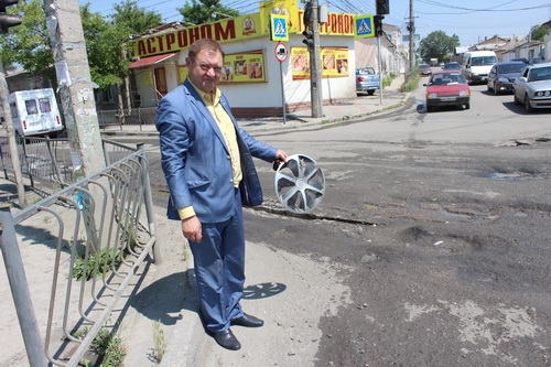 Общественники осмотрели состояние дорог в Симферополе в преддверии дня города 0 (0)