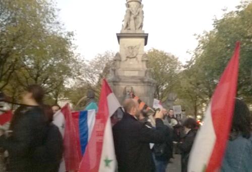 Марш в поддержку России в борьбе против терроризма