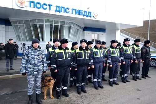 У Крымского моста начали работу стационарные посты ДПС 0 (0)