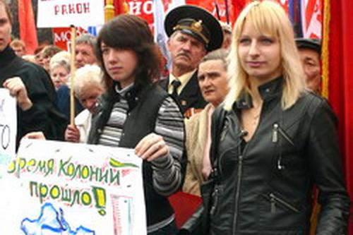 Блок левых сил: в президенты – Петра Симоненко! (ФОТОФИЛЬМ)