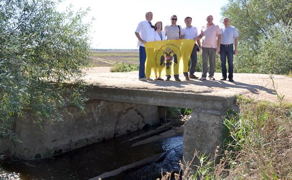 На мосту через реку Салгир