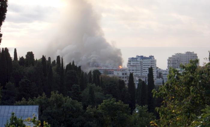 Сегодня горел санаторий в Ялте