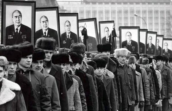 Москва. День похорон «дорогого Леонида Ильича»
