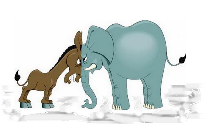 Кому помогут барсуки и росомахи: ослу Байдену или слону Трампу?