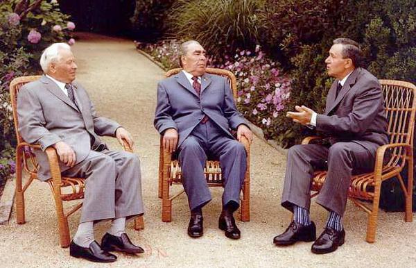 Константин Черненко, Леонид Брежнев и Алексей Громыко на отдыхе в Крыму