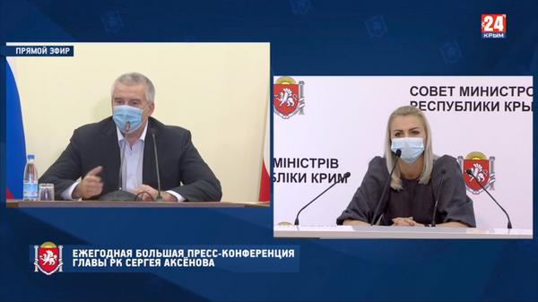 Вопрос от Анастасии Гридчиной – главреда ИА «Крым сегодня»