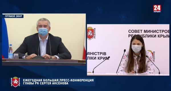 Вопрос от Анастасии Жуковой, журналиста телеканала «Крым 24»