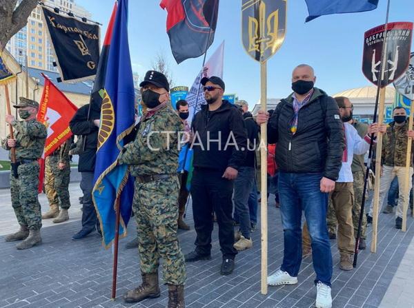 Кошмарный сон освободителей Киева-1943 – неонацисты собрались на Арсенальной площади в 2021 году