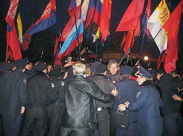 Севастополь, 26 декабря 2009 года. Столкновения между колонной националистов и активистами «Русского блока»