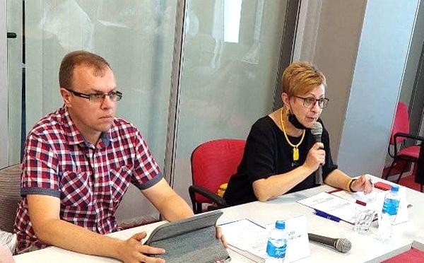 Два докладчика: Андрей Зоткин и Наталья Киселева