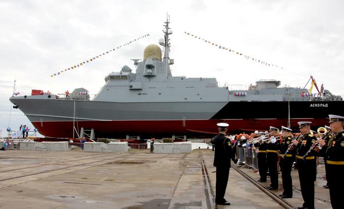 Хорошая новость: в Керчи состоялся торжественный спуск на воду нового корабля